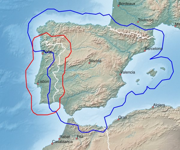 Map Of Spain For Android.Southern Europe