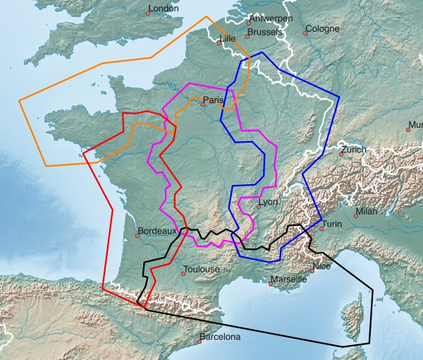 Map Of France South.Western Europe